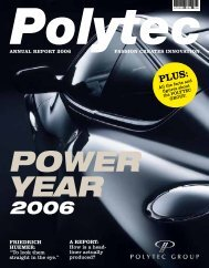 A rePort: How is a head- liner actually produced? friedrich ... - polytec