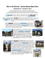 September 24 – October 8, 2013 - Crisp Tours