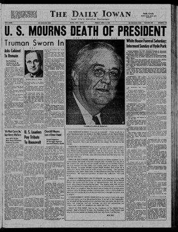 T'ruman Sworn In - The Daily Iowan Historic Newspapers ...