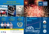 VHS-Programm Frühjahr - Sommer 2013 - Stadt Grevenbroich