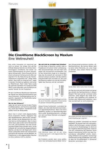 Neues Die Cine Home BlackScreen by Maxlum Eine Weltneuheit!