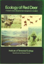 Ecology of Red Deer - NERC Open Research Archive - Natural ...