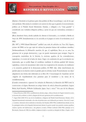 Rosa Luxemburgo - Reforma o revolución