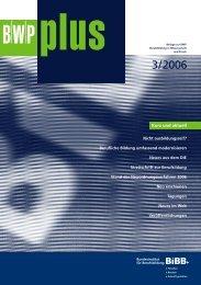 BWP 3/2006 Thema ua - BiBB