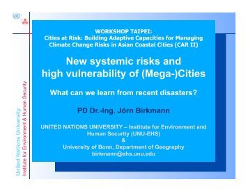 United Nations University - START - SysTem for Analysis Research ...