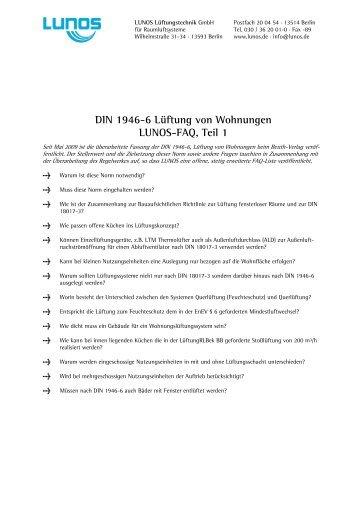DIN 1946-6 Lüftung von Wohnungen LUNOS ... - ENEV-Online.de