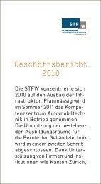 Geschäftsbericht - Schweizerische Technische Fachschule (STF)