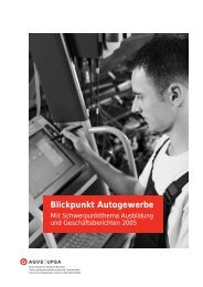 Blickpunkt Autogewerbe - AGVS