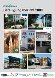 Beteiligungsbericht der Stadt Iserlohn 2009