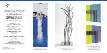 Drei Positionen - Kunstverein Hockenheim