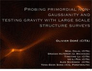 Probing primordial non- gaussianity and testing gravity with large ...
