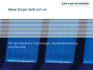 PPT Vorlage Meyer Burger AG