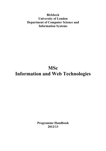 Programme booklet (in PDF) - Department of Computer Science and ...