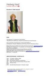Künstlerin: Hilde Seyboth VITA 1944 geboren in ... - Hedwig Hanf