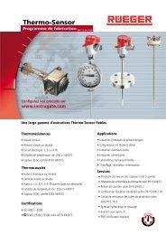 sondes programme de fabrication - Rueger