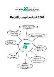 Beteiligungsbericht 2007 - Iserlohn