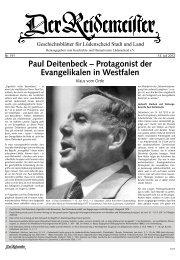 Paul Deitenbeck – Protagonist der Evangelikalen in Westfalen