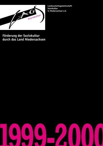 1999-2000 Förderung der Soziokultur durch das Land Niedersachsen