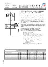 Flansch-Thermoelemente Form F nach DIN 43771 mit ... - Tematec