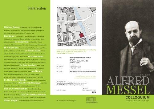Programmflyer zum Download - Architekturmuseum - Technische ...