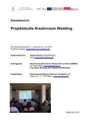 Projektstudie Kreativraum Wedding - Christiania