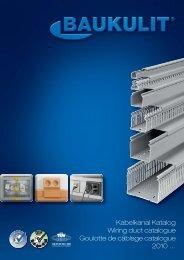 Kabelkanal Katalog Wiring duct catalogue Goulotte de ... - Baukulit
