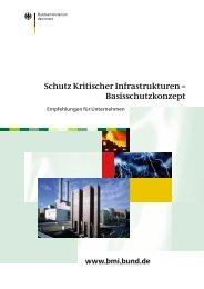 Schutz Kritischer Infrastrukturen – Basisschutzkonzept
