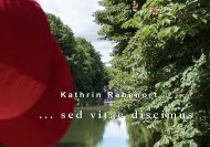 Katalog ...sedvitaediscimus - Kathrin Rabenort