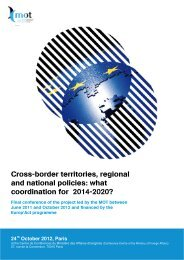 Cross-border territories, regional and national policies ... - Interact