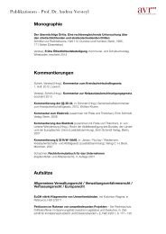 Monographie - Andrea Versteyl Rechtsanwälte