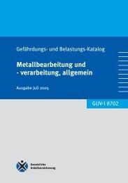 GUV-I 8702 - Gefährdungs- und Belastungskatalog ... - Sichere Schule