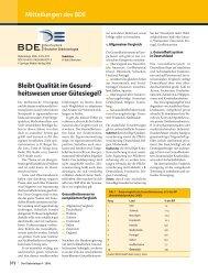 Mitteilungen des BDE Bleibt Qualität im Gesund ... - Hormonnetz