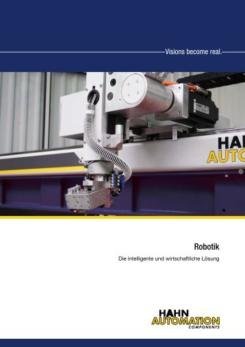Prospekt Handlinggeräte der HAHN Automation AG