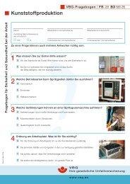 Fragebogen für Sicherheit und Gesundheit bei der Arbeit ... - VBG