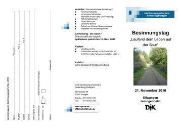 Besinnungstag - DJK-Diözesanverband Rottenburg-Stuttgart
