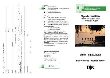 Sportexerzitien - DJK-Diözesanverband Rottenburg-Stuttgart