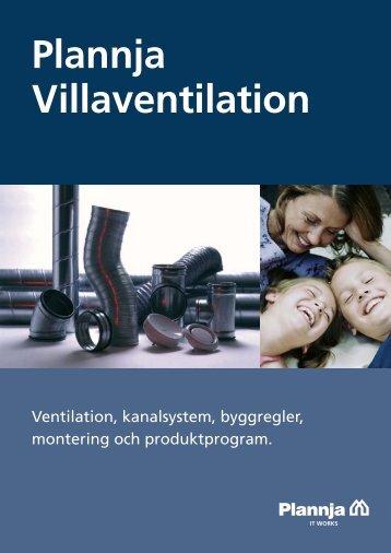Montering av Plannja Villaventilation.