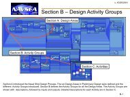 Section B – Design Activity Groups - Naval Sea Systems Command