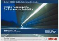 Design Requirements for Automotive Reliability