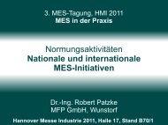 MES-Tagung - MFP GmbH
