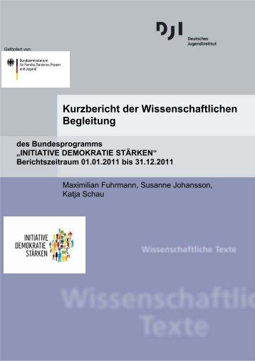 Kurzbericht der Wissenschaftlichen Begleitung - Deutsches ...