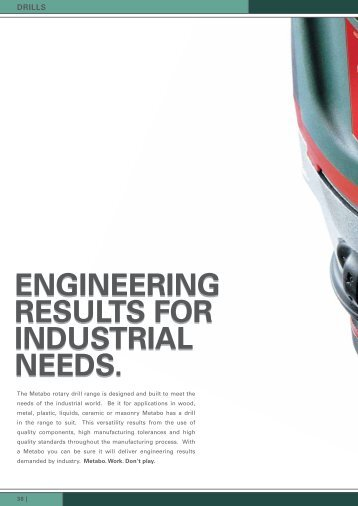 ENGINEERING RESULTS FOR INDUSTRIAL NEEDS ...