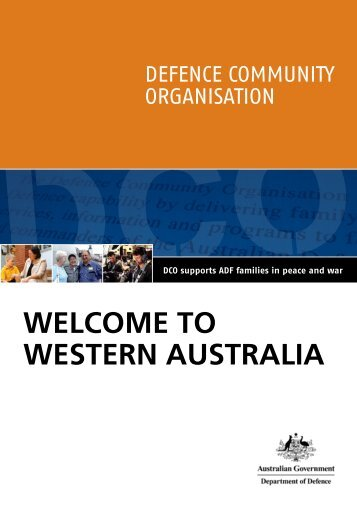 WELCOME TO WEsTErn ausTraLia - Department of Defence