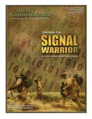Winter 06 - United States Army Signal Center of Excellence - U.S. ...