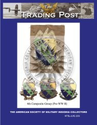 April - June 2009 - American Society of Military Insignia Collectors