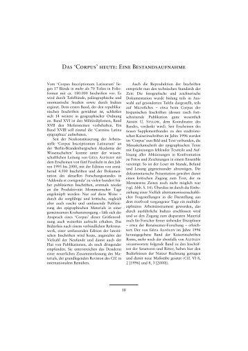 corpvs inscriptionvm latinarvm - CIL - Berlin-Brandenburgische ...