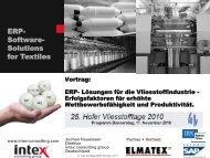 ERP- Software- Solutions for Textiles - Hofer Vliesstofftage