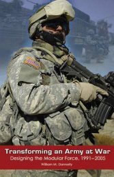 TransformInG an armY aT War Designing the modular force 1991 ...