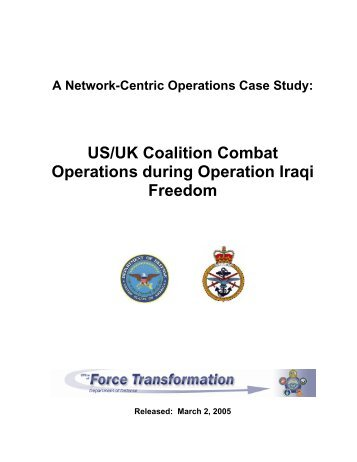 US/UK Coalition Combat Operations during Operation Iraqi Freedom