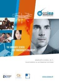 THE GRADUATE SCHOOL FOR TOMORROW'S ENGINEERS - ESIEA